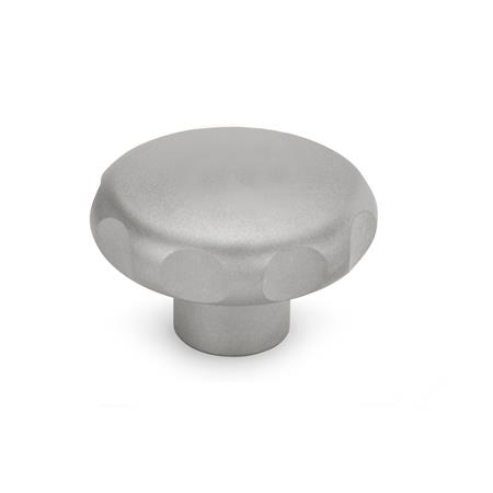 GN 5335.4 Stainless Steel AISI 316L Star Knobs, with Tapped or Plain Bore Type: E - With tapped blind bore