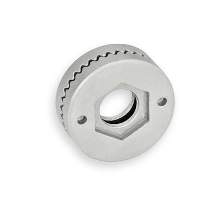 GN 188 Placas de bloqueo dentadas de acero inoxidable, soldable Tipo: A - Con orificio pasante, sin casquillo