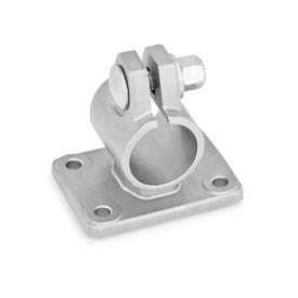 GN 146.5 Stainless Steel Flanged Connector Clamps, with Four Mounting Holes Type: A - without sealing