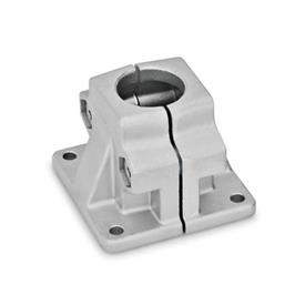 GN 165 Aluminum Base Plate Connector Clamps Finish: BL - Plain, tumbled finish