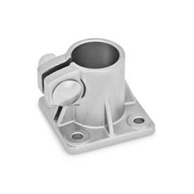 GN 163.5 Stainless Steel, Base Plate Connector Clamps Type: A - without sealing