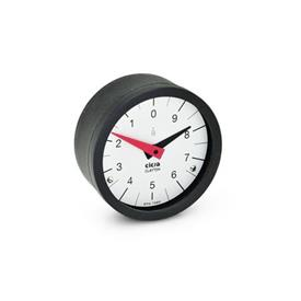EN 000.8 Technopolymer Plastic Position Indicators, Gravity Drive with Analog Display Type: L - Numbers increasing counter-clockwise