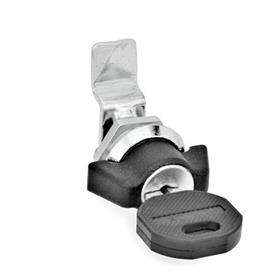 GN 115.1 Zinc Die-Cast Mini Cam Latches / Cam Locks Material: ZD - Zinc die-cast<br />Type: SCK - Operation with wing knob, with key