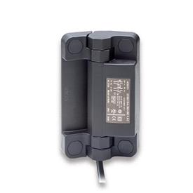 EN 239.6 Technopolymer Plastic Hinges with Integrated Safety Switch, with Connector Cable Type: BK - Cable at the bottom