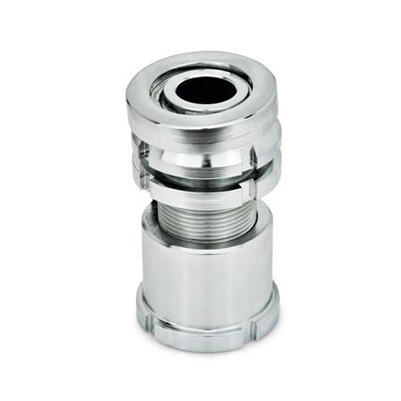 GN 350.5 Vérins de précision acier ou inox, avec rondelle articulée, avec contre-écrou Matériau: ST - Acier