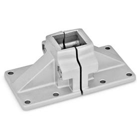 GN 167 Aluminum, Split Assembly, Wide Base Plate Connector Clamps Finish: BL - Plain, tumbled finish