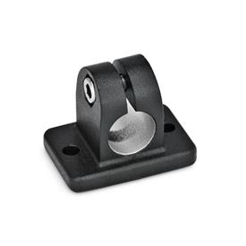 GN 145 Aluminumm,  Flanged Connector Clamps Finish: SW - Black, RAL 9005, textured finish