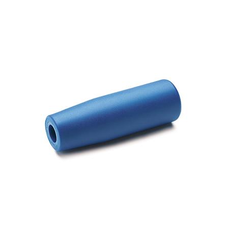 EN 519.2 FDA Compliant Plastic Cylindrical Handles, Detectable Material / Finish: VDB - Visually detectable