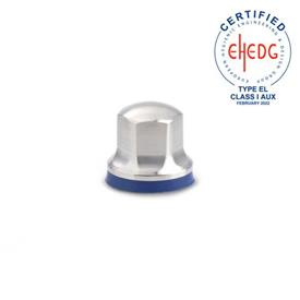 GN 1580 Tuercas de acero inoxidable, diseño higiénico Acabado: MT - Acabado mate (Ra < 0.8 µm)<br />Material de anillo de sellado: H - H-NBR